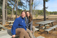 Education interns Rachel Rigolosi and Kathryn Borowicz