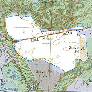 Map of Bull Hill Fields IBA site
