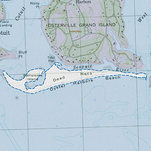 Map of the Dead Neck and Sampsons Island IBA site