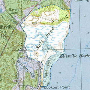 Map of the Ellisville Harbor IBA site