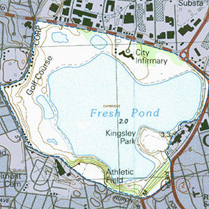 Map of the Fresh Pond IBA site
