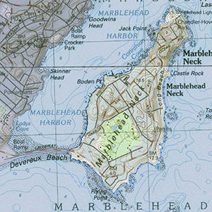 Map of the Marblehead Neck IBA site