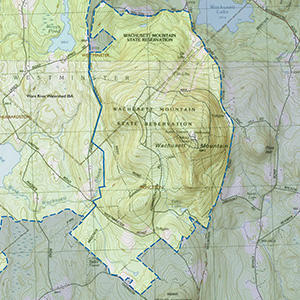 Map of the Wachusett Mountain IBA site