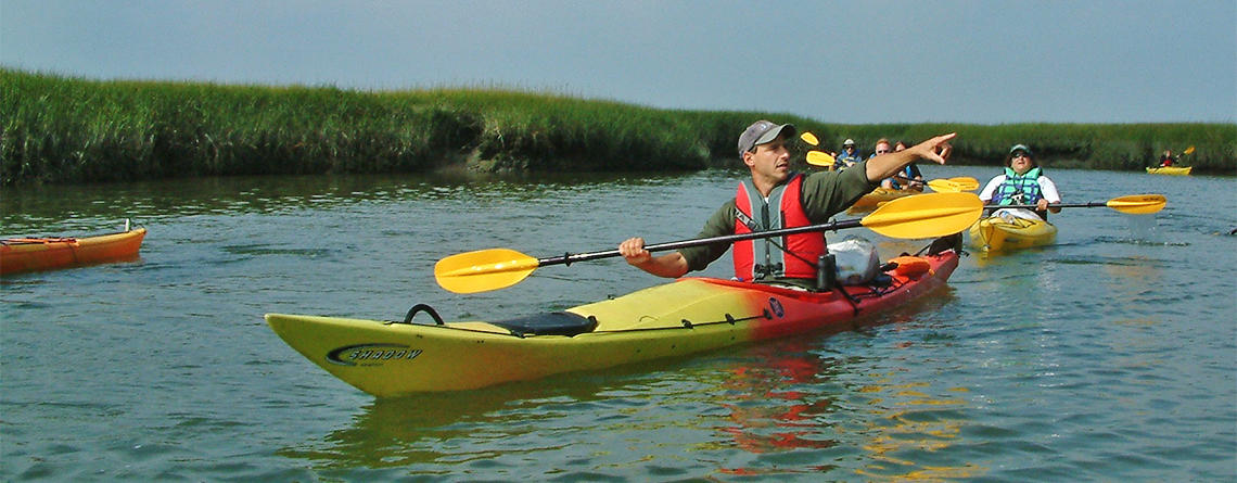Kayaking with a Mass Audubon naturalist